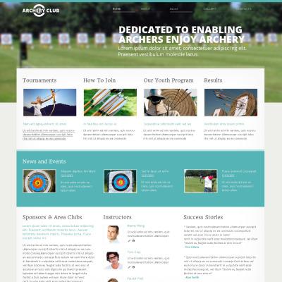 Archery Responsive Website Template