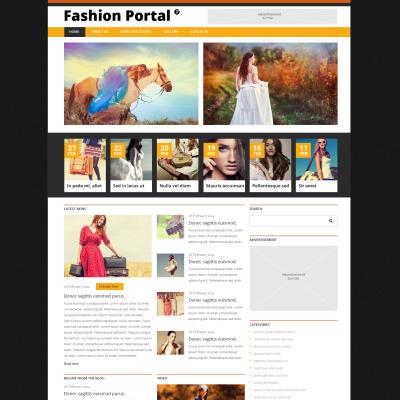 Responsive Joomla Vorlage für Mode-Blog