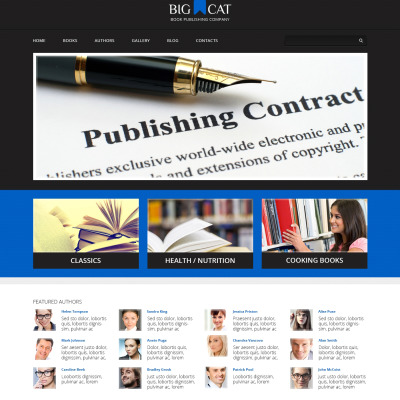 Publishing Company Responsive WordPress Theme