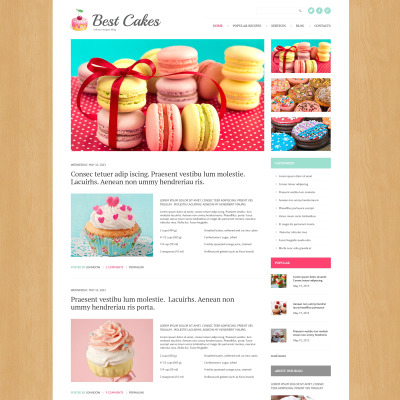 Sweet Shop Responsive WordPress Sablon
