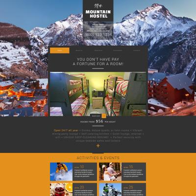 Hotels Responsive Weboldal Sablon