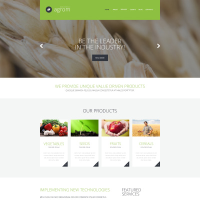 Vegetable Responsive WordPress Thema