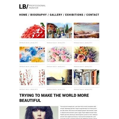 Artist Portfolio Responsive Weboldal Sablon