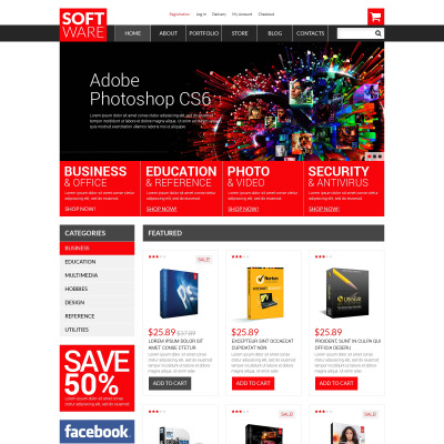 Software Store Responsive WooCommerce Motiv