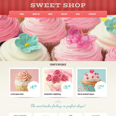Sweet Shop Responsive WordPress Sablon