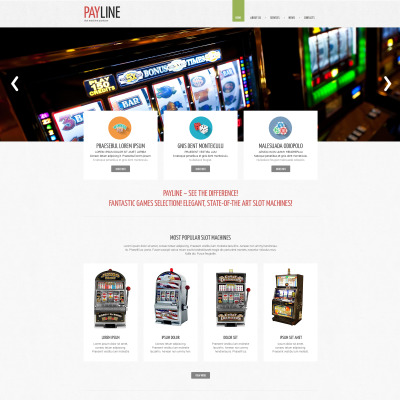 Slot Machines Responsive Website Template