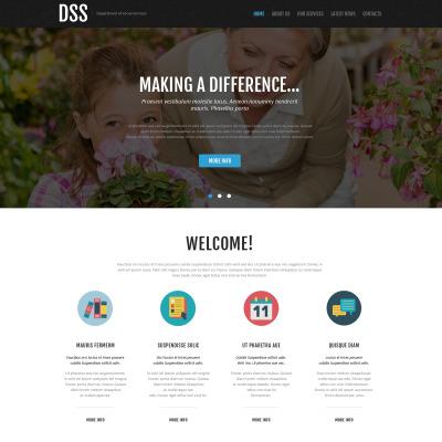 Social Foundation Responsive Website Template