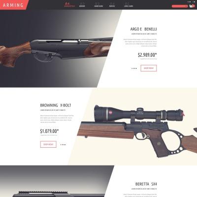 Gun Shop PSD模板