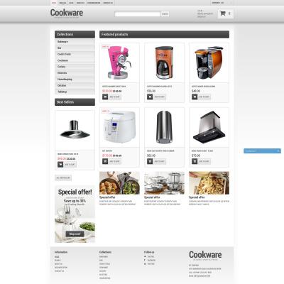 Responsives Shopify Theme für Haushaltswaren