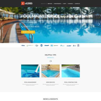 Pool Cleaning Responsive Joomla Template