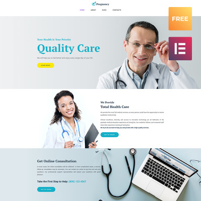 Medical WordPress шаблон