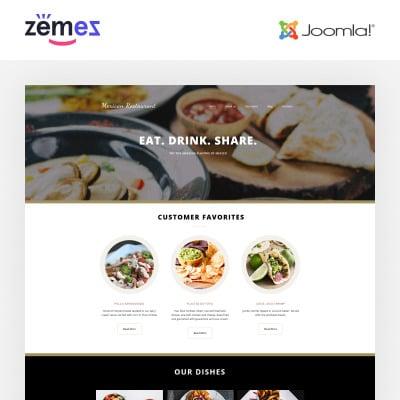 Mexican Restaurant Responsive Joomla Sablon