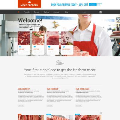 Food Store Responsive WordPress Sablon