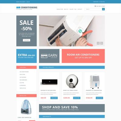 Air Conditioning Responsive VirtueMart Template