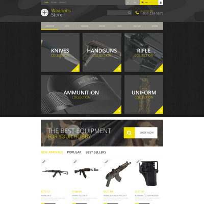 Weapons Store Responsive PrestaShop Theme