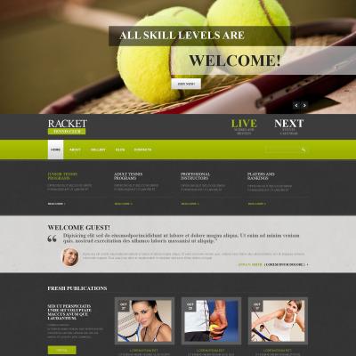Tennis Responsive Joomla Template