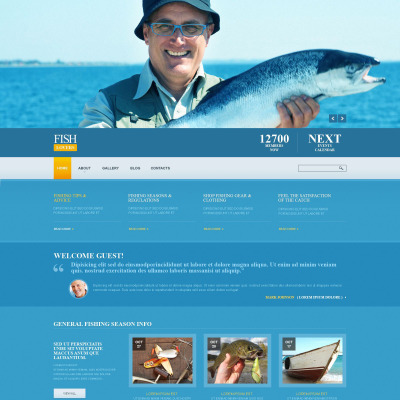 Fishing Responsive Joomla Template