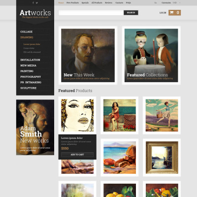 Art Store ZenCart Sablon
