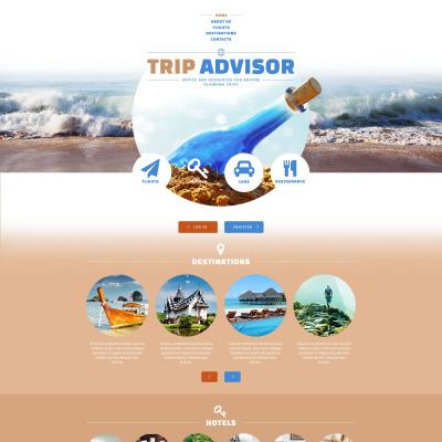 Responsive Website Vorlage für Reiseführer