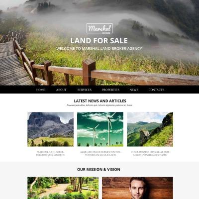 Land Broker Responsive Template Siti Web