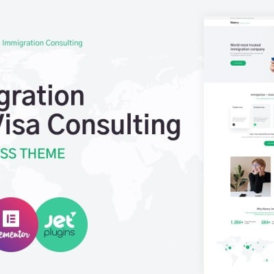 Immigration Consulting Responsive WordPress Theme