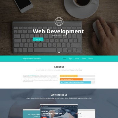 Web Development Moto CMS HTML šablona