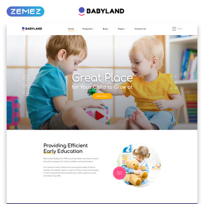 Day Care Responsive Website Template