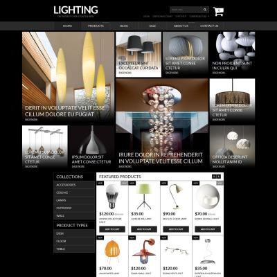 Responsives Shopify Theme für Lighting & Strom