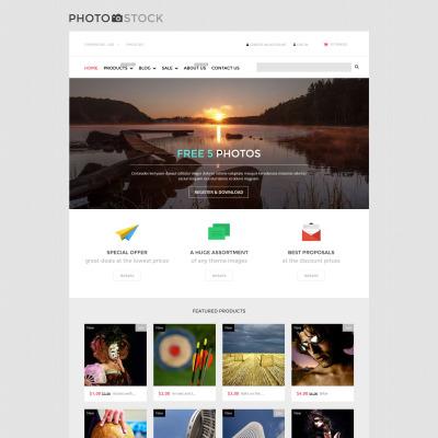Responsives Shopify Theme für Stockfoto