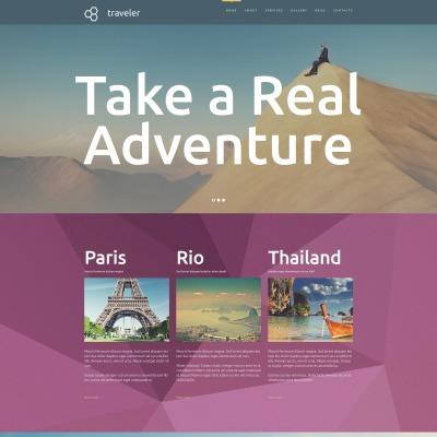 Responsives Moto CMS 3 Template für Reisebüro
