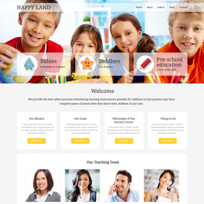 Day Care Responsive Weboldal Sablon