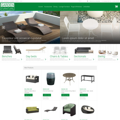 Furniture Responsive Magento Motiv