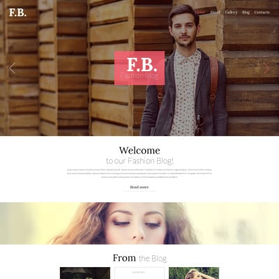 Responsives WordPress Theme für Mode-Blog