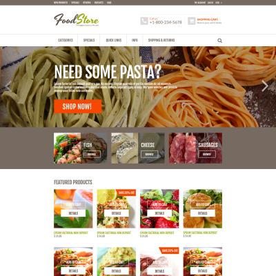 Food Store Responsive ZenCart Sablon