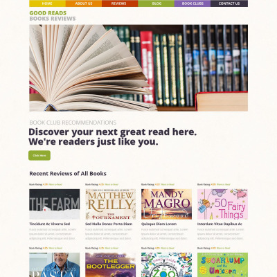 Thème WordPress adaptatif  pour sites de critiques de livres