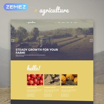 Agriculture Responsive WordPress Theme
