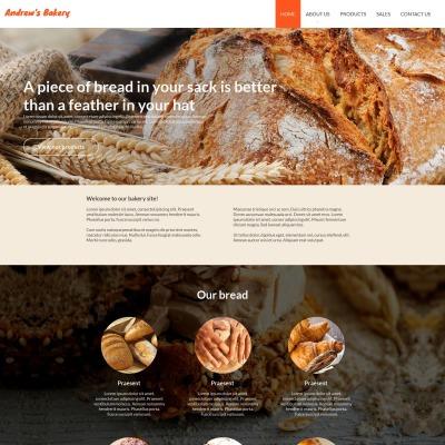 Moto CMS HTML Vorlage für Bäckerei