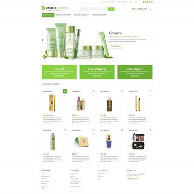 Cosmetics Store Responsive ZenCart Sablon