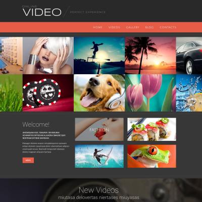 Thème WordPress adaptatif  pour site de galerie vidéo