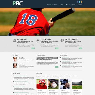 Thème WordPress adaptatif  pour site de baseball