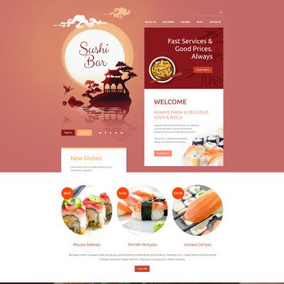 Sushi Bar Responsive Drupal Template