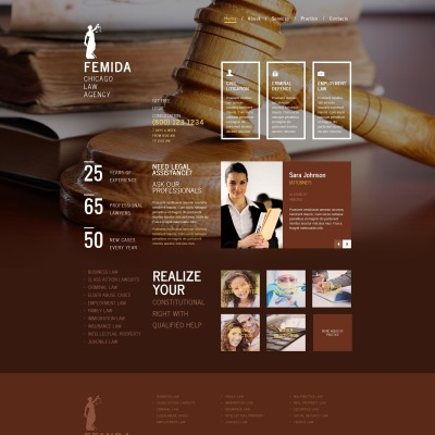 Law Firm Moto CMS HTML模板