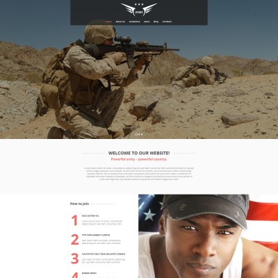 Military Moto CMS HTML模板