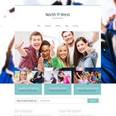 Thème WordPress adaptatif  pour site d'université