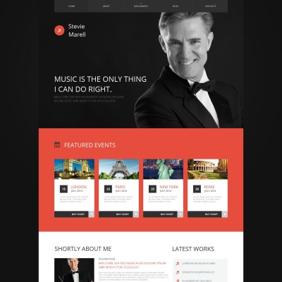 Personal Page Moto CMS HTML模板