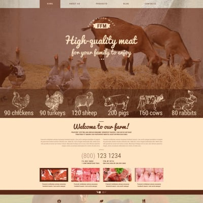 Cattle Farm Responsive WordPress Theme