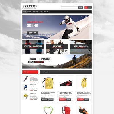 Responsive VirtueMart Vorlage für Extremsportarten