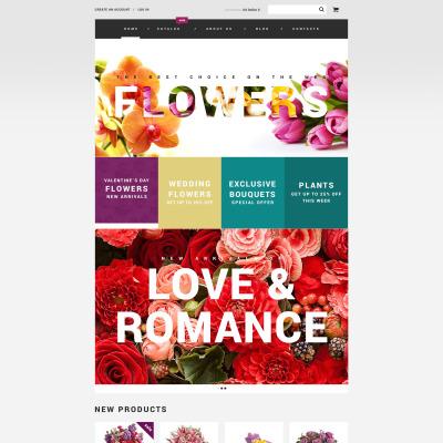 Responsive VirtueMart Vorlage für Blumengeschäft