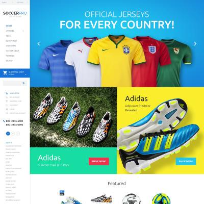Soccer Responsive OpenCart šablona