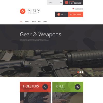 Responsive VirtueMart Vorlage für Militär